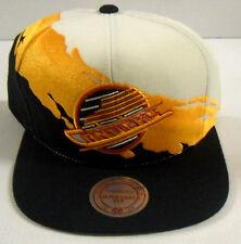 NHL Vancouver Canucks Mitchell & Ness Snapback Paint Brush Wool Cap Hat M&N NEW!