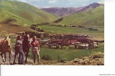 SUN VALLEY ID 1953 Two Gals with Two Horses Overlook the Town in Summer VINTAGE