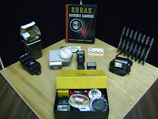 LOT OF VINTAGE CAMERA PARTS AND ACCESSORIES LOOK