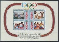 SAMOA - 1984 'LOS ANGELES OLYMPICS' Miniature Sheet MNH SG682 [C1972]