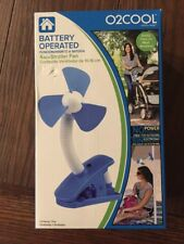 New with Box O2Cool Battery Operated Clip-On Stroller Fan ( 4 in )
