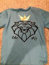UnKrowned Apparel,100% graphic tee size L, baby blue lion shirt