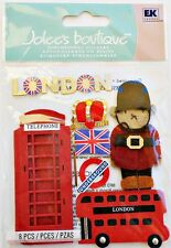 London Buckingham Guard Underground Crown Red Phone Booth Jolee's 3D Stickers