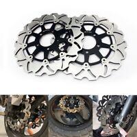 Pair Front Brake Disc Rotors For Suzuki Vstrom DL650 DL1000 SV1000 SV1000S 03-07
