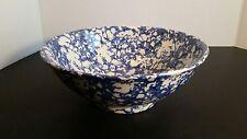 Vintage Leopoldo Piezi Stoviglierie Hand Painted Italy Large Serving Pasta Bowl