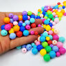 6/8/10/12MM ACRYLIC ROUND SPACER LOOSE BEADS BALL DIY JEWELRY MAKING ACCESSORY