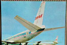 AK Airliner Postcard THAI DC-8 airline issue