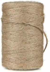 2ply Jute Twine Sisal String Soft Natural Brown Burlap Rustic Cord  Hessian