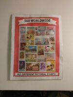 Foreign Worldwide Commemorative Pictorial Stamps Lot 500 All Different Used/Mint