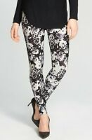 Nordstrom Women's Black Floral Leggings 123632 sz L