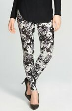 Nordstrom Women/'s Black Floral Leggings 123632 sz L