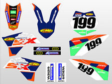 2009 - 2015 KTM SX 50 FULL GRAPHICS KIT DECAL STICKERS