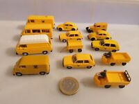 G465 WIKING DBP DEUTSCHE POST MODELLE TRANSPORTER VW GOLF 13 STK H0 Postauto