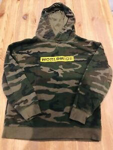 Boys hooded camo jacket
