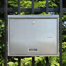 TOP ANGEBOT Briefkasten Postkasten GROß Zaunbriefkasten DIN C4 Edelstahl