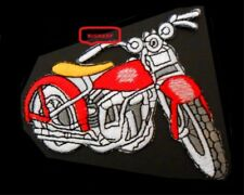 """HARLEY MOTORCYCLE HOT RED   BIKER ROADGEAR PATCH    3 3/4"""" X 3 1/4""""  IRON OR SEW"""