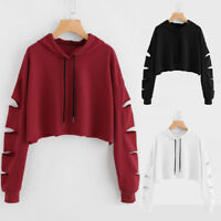 Fashion Womens Casual Long Sleeve Sweatshirt Jumper Pullover Solid Blouse Tops