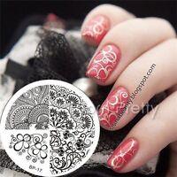 BORN PRETTY Nail Art Image Stamping Plates Image Templatea Elegant Flower DIY