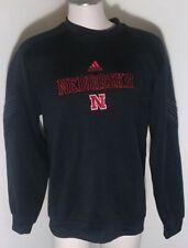 Nebraska Cornhukser Adidas Climawarm Mens Black/Red Long Sleeve Shirt Size Large
