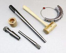 Ring Stretcher Kit - Mandrel - Wide Finger Gauge Rawhide Mallet - Rathburn Sizer