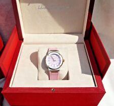 NIB SALVATORE FERRAGAMO PINK RUBBER STEEL DIAMONDS WATCH FIG050015 ~Great Gift!!