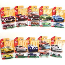 Hot Wheels 50th Throwback Decades (Wave Mix 2) Set (10) - w/DMC Delorean