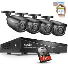 SANNCE 8 Channel 1080P Outdoor CCTV Camera System, 4pcs 1080P Weatherproof Home
