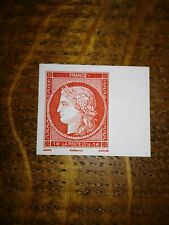 FRANCE salon 2014 - timbre N° 4871 Carmin gravé CERES  NEUF ** bord de feuille