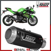 Terminal MIVV MK3 inoxidable negro Kawasaki Ninja 125 2019