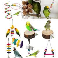 Mascota Pájaro Loro Perico Periquito Cacatúa Ninfa Cage Hamaca Columpio Colgante