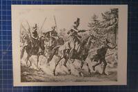 Johann Adam Klein Russische Soldatentypen Tafel Nr.45 Sammlung F.Gauker B25935