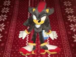 "Official 16"" SHADOW THE HEDGEHOG Sonic Plush Toy Doll 2017 KOREA IMPORT"