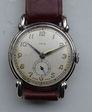 Oris  7J cal 451 1950's Manual winding nickle plated deco style dress watch