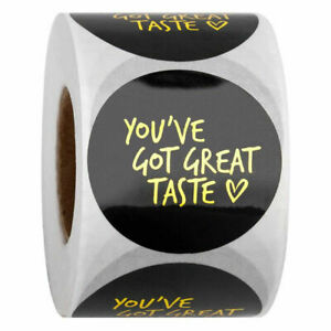 YOU'VE GOT GREAT TASTE Thank You For Your Order Stickers Labels Craft BLACK GOLD