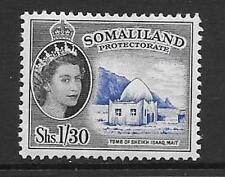 SOMALILAND SG145 1955 1s30 ULTRAMARINE & BLACK  MTD MINT