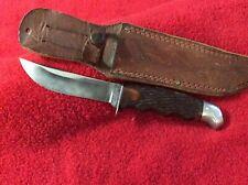 USA Schrade Walden NY 147 Sheath Knife With Original Sheath -Solid Old Knife