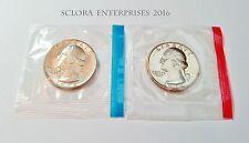 1972 P & D Washington Quarter Coin Set (2 Coins) *MINT CELLO*  **FREE SHIPPING**