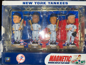 4 new york yankees mini magnetic bobbles from forever collectibles /new