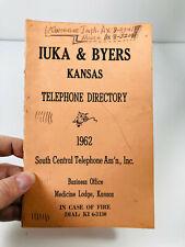 1962 Iuka Byers Kansas KS Telephone Directory Book