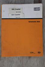 Case 550 Crawler original schematics sets #8-13131