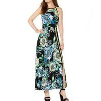 INC NEW Women's Floral-print Halter Neckline Maxi Dress TEDO