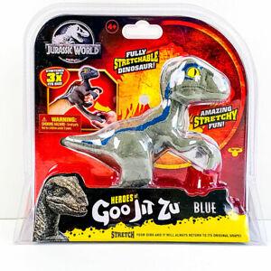 Heroes of Goo Jit Zu Jurassic World VELOCIRAPTOR BLUE Dinosaur Stretchy 2021 NEW