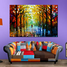 Colorful Tree Forest Abstract Canvas Painting Wall Art Picture Prints Decor US