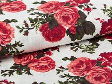 0,5 m roses toile de Lin 100% shabby chic tissu, 1,5 m large au mètre