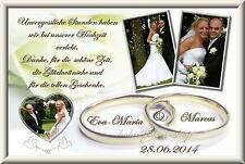 20 Danksagungskarten Hochzeit Danksagungen Fotokarte Hochzeitskarte Danke Foto