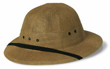 Double-Lacquered Straw Pith Helmet Tan