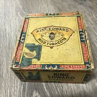 Vintage Collectible King Edward Imperial Cigar Box Empty As Is