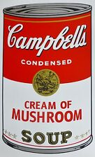 ANDY WARHOL CAMPBELLS' CREAM OF MUSHROOM Soup Can SUNDAY B.MORNING Silkscreen