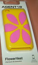 FlowerVest Soft Silicone case for iPod touch 4th Generation, Yellow & Pink