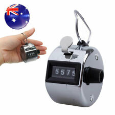 Tally Counter Hand Held Clicker 4 Digit Chrome Palm Golf People Counting Club AU